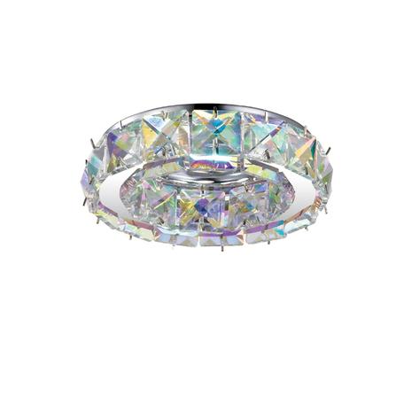 Встраиваемый светильник Novotech Spot Neviera 370169, 1xGU5.3x50W, хром, разноцветный, прозрачный, металл, хрусталь - миниатюра 1