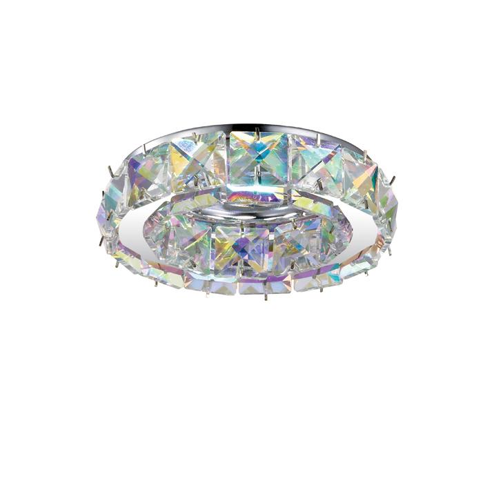 Встраиваемый светильник Novotech Spot Neviera 370169, 1xGU5.3x50W, хром, разноцветный, прозрачный, металл, хрусталь - фото 1