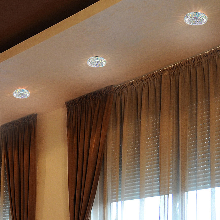 Встраиваемый светильник Novotech Spot Neviera 370169, 1xGU5.3x50W, хром, разноцветный, прозрачный, металл, хрусталь - фото 2