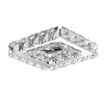 Встраиваемый светильник Novotech Spot Neviera 370170, 1xGU5.3x50W, хром, прозрачный, металл, хрусталь