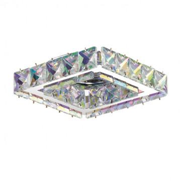 Встраиваемый светильник Novotech Spot Neviera 370171, 1xGU5.3x50W, хром, разноцветный, прозрачный, металл, хрусталь
