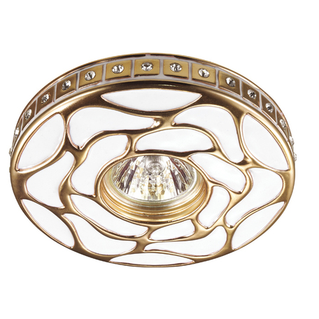 Встраиваемый светильник Novotech Pattern 370213, 1xGU5.3x50W, белый, золото, песчаник
