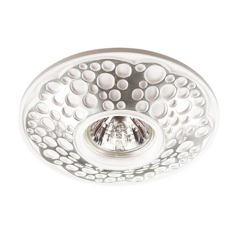 Встраиваемый светильник Novotech Pattern 370217, 1xGU5.3x50W, серебро, песчаник