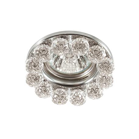 Встраиваемый светильник Novotech Spot Maliny 370225, 1xGU5.3x50W, хром, прозрачный, металл, хрусталь