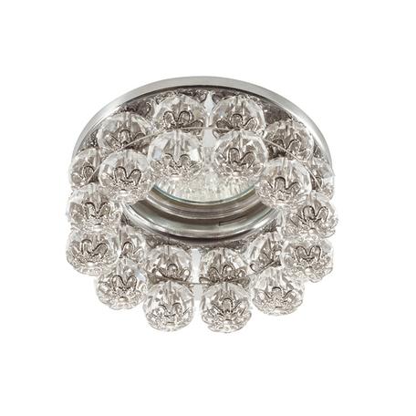 Встраиваемый светильник Novotech Spot Maliny 370227, 1xGU5.3x50W, хром, прозрачный, металл, хрусталь