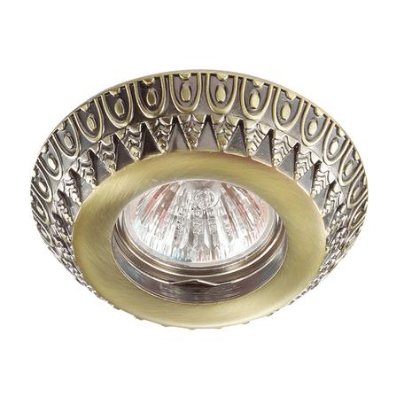 Встраиваемый светильник Novotech Forza 370248, 1xGU5.3x50W, бронза, металл