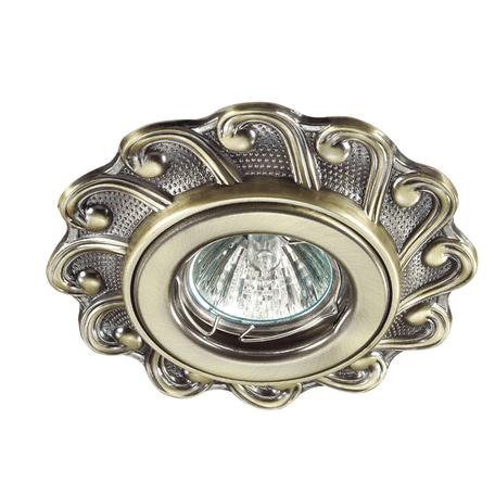 Встраиваемый светильник Novotech Ligna 370264, 1xGU5.3x50W, бронза, металл - миниатюра 1