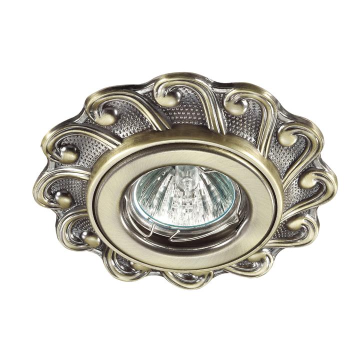 Встраиваемый светильник Novotech Ligna 370264, 1xGU5.3x50W, бронза, металл - фото 1