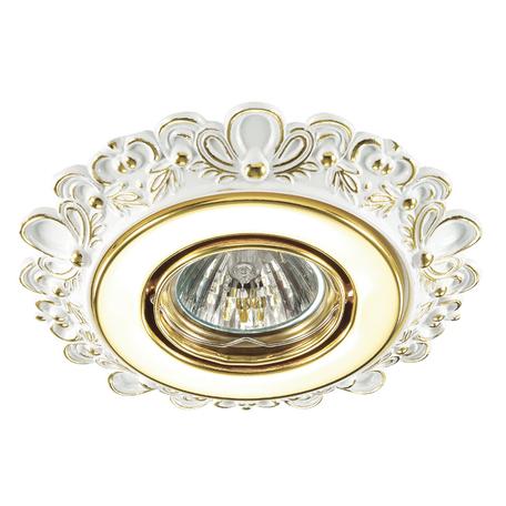 Встраиваемый светильник Novotech Ligna 370271, 1xGU5.3x50W, белый, золото, металл