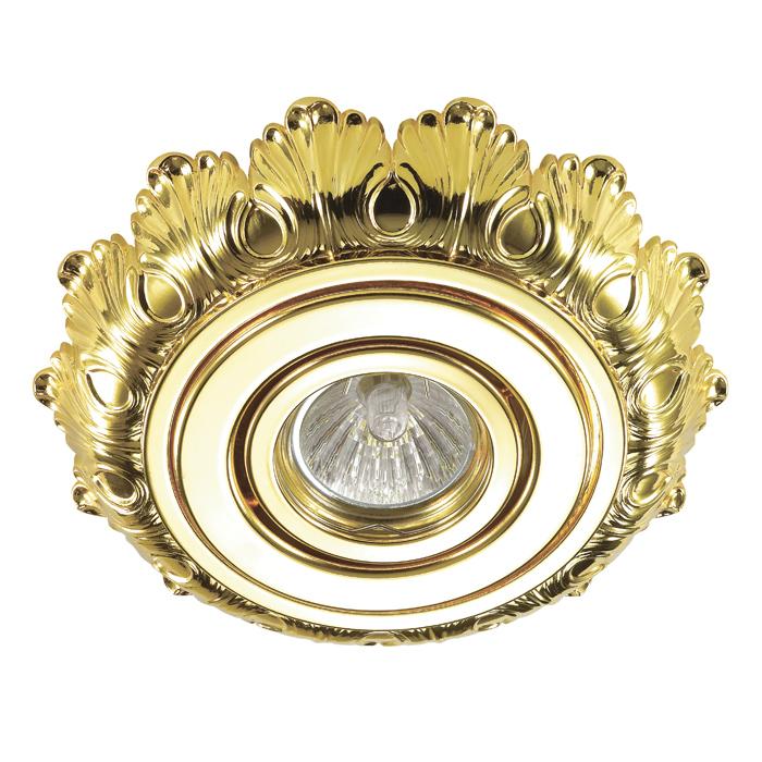 Встраиваемый светильник Novotech Ligna 370278, 1xGU5.3x50W, золото, металл - фото 1