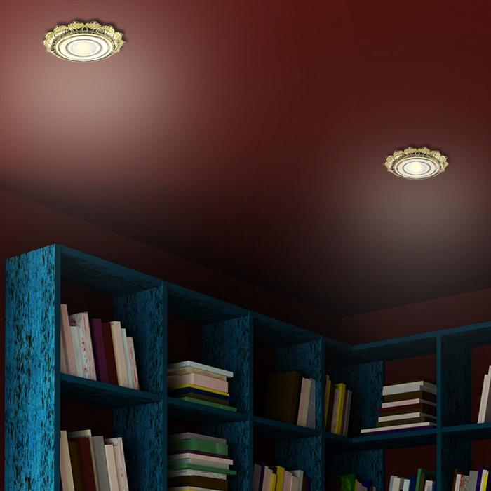 Встраиваемый светильник Novotech Ligna 370278, 1xGU5.3x50W, золото, металл - фото 2
