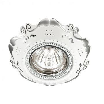 Встраиваемый светильник Novotech Forza 370314, 1xGU5.3x50W, белый, хром, металл