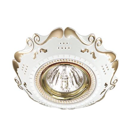Встраиваемый светильник Novotech Forza 370315, 1xGU5.3x50W, белый, золото, металл