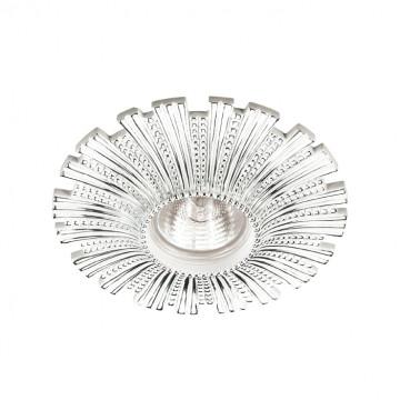 Встраиваемый светильник Novotech Pattern 370324, 1xGU5.3x50W, белый, хром, гипс, песчаник