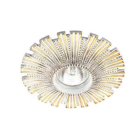 Встраиваемый светильник Novotech Pattern 370325, 1xGU5.3x50W, белый, золото, гипс, песчаник