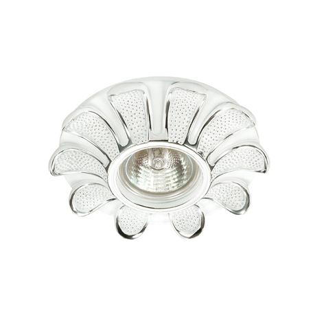 Встраиваемый светильник Novotech Pattern 370331, 1xGU5.3x50W, хром, белый, гипс, песчаник