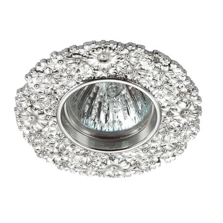 Встраиваемый светильник Novotech Spot Candi 370333, 1xGU5.3x50W, хром, металл с хрусталем