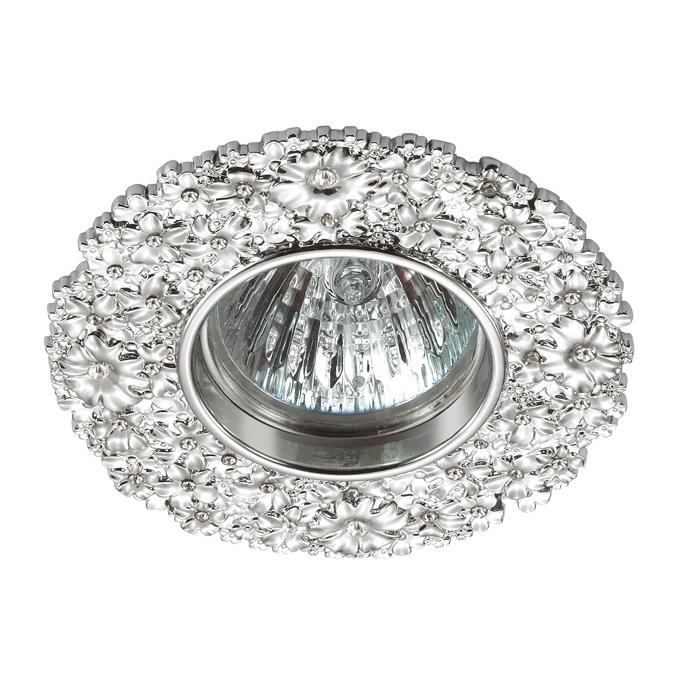 Встраиваемый светильник Novotech Spot Candi 370333, 1xGU5.3x50W, хром, металл с хрусталем - фото 1