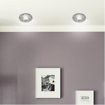 Встраиваемый светильник Novotech Spot Candi 370333, 1xGU5.3x50W, хром, металл с хрусталем - миниатюра 2