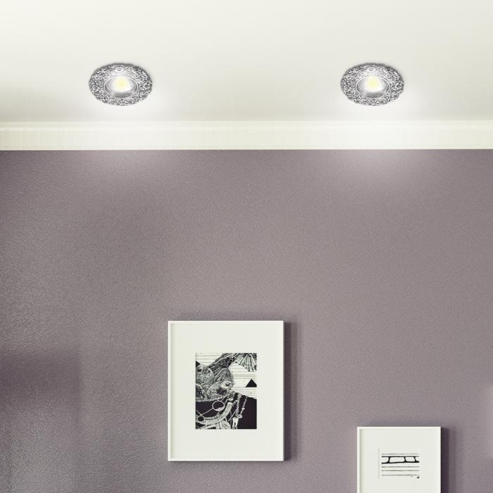 Встраиваемый светильник Novotech Spot Candi 370333, 1xGU5.3x50W, хром, металл с хрусталем - фото 2