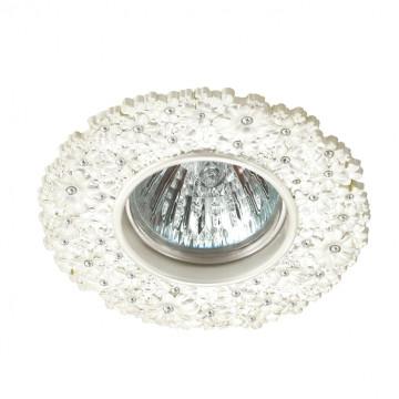 Встраиваемый светильник Novotech Spot Candi 370335, 1xGU5.3x50W, белый, металл с хрусталем