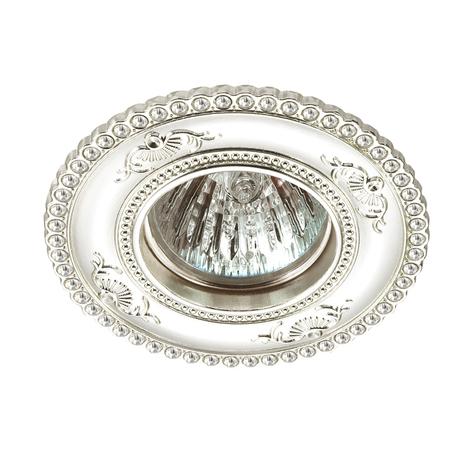 Встраиваемый светильник Novotech Candi 370337, 1xGU5.3x50W, серебро, металл с хрусталем
