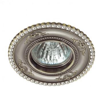 Встраиваемый светильник Novotech Spot Candi 370341, 1xGU5.3x50W, бронза, металл с хрусталем