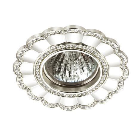 Встраиваемый светильник Novotech Spot Candi 370342, 1xGU5.3x50W, серебро, металл с хрусталем