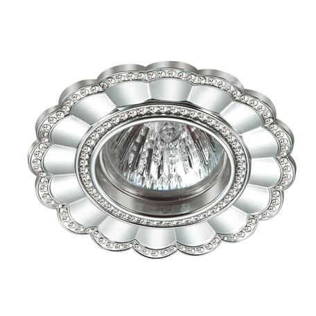 Встраиваемый светильник Novotech Spot Candi 370343, 1xGU5.3x50W, хром, металл с хрусталем