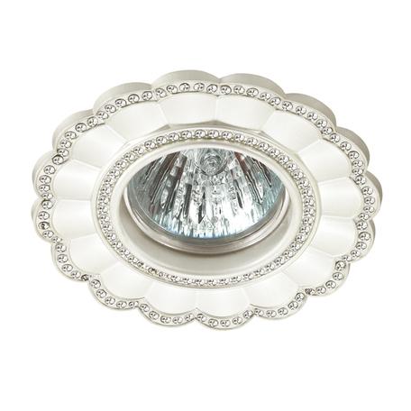 Встраиваемый светильник Novotech Spot Candi 370345, 1xGU5.3x50W, белый, металл с хрусталем - миниатюра 1