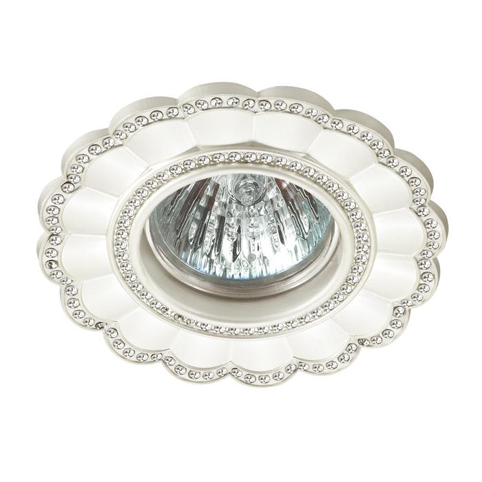 Встраиваемый светильник Novotech Spot Candi 370345, 1xGU5.3x50W, белый, металл с хрусталем - фото 1