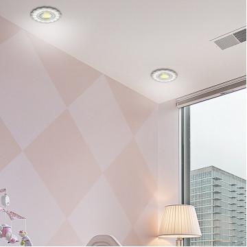 Встраиваемый светильник Novotech Spot Candi 370345, 1xGU5.3x50W, белый, металл с хрусталем - миниатюра 2