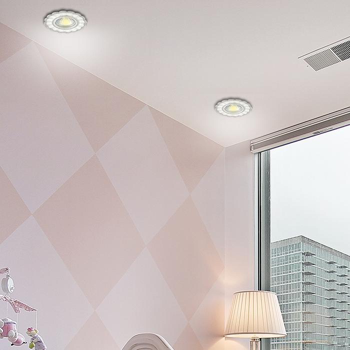 Встраиваемый светильник Novotech Spot Candi 370345, 1xGU5.3x50W, белый, металл с хрусталем - фото 2