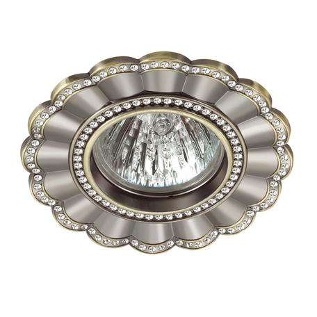 Встраиваемый светильник Novotech Spot Candi 370346, 1xGU5.3x50W, бронза, металл с хрусталем