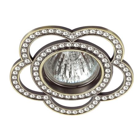 Встраиваемый светильник Novotech Spot Candi 370351, 1xGU5.3x50W, бронза, металл с хрусталем