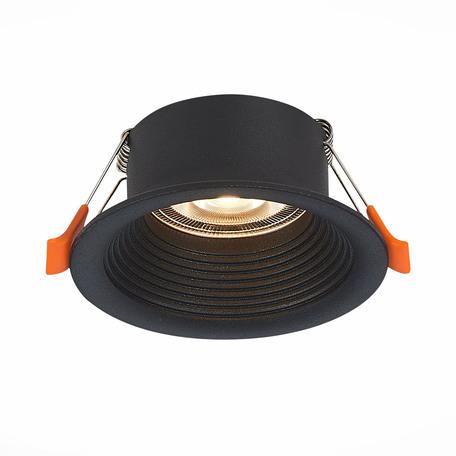 Встраиваемый светильник ST Luce Mobarra ST202.408.01, 1xGU10x50W, черный, металл