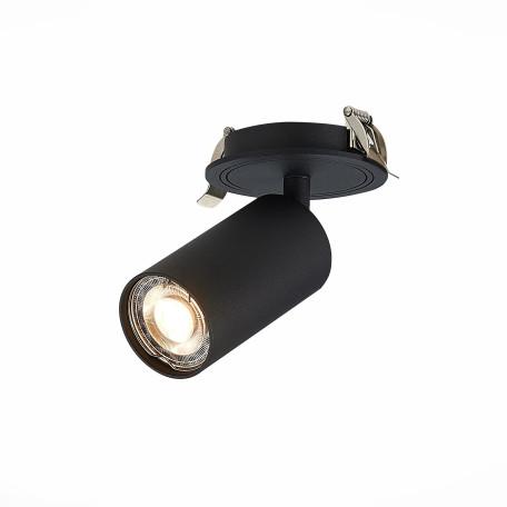 Встраиваемый светильник с регулировкой направления света ST Luce Dario ST303.408.01, 1xGU10x50W, черный, металл