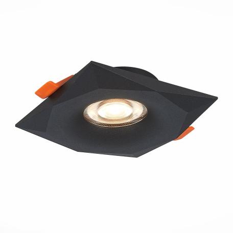 Встраиваемый светильник ST Luce Ovasis ST203.408.01, 1xGU10x50W, черный, металл