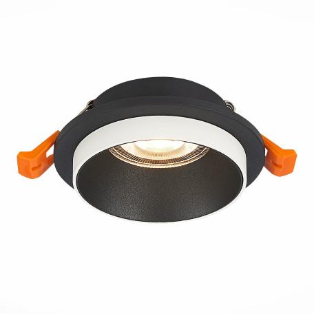 Встраиваемый светильник ST Luce Chomia ST206.408.01, 1xGU10x50W, черный, черно-белый, металл