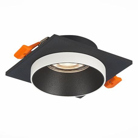 Встраиваемый светильник ST Luce Chomia ST206.418.01, 1xGU10x50W, черный, черно-белый, металл