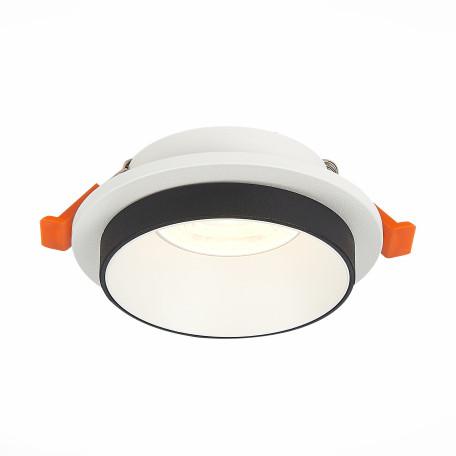 Встраиваемый светильник ST Luce Chomia ST206.508.01, 1xGU10x50W, белый, черно-белый, металл