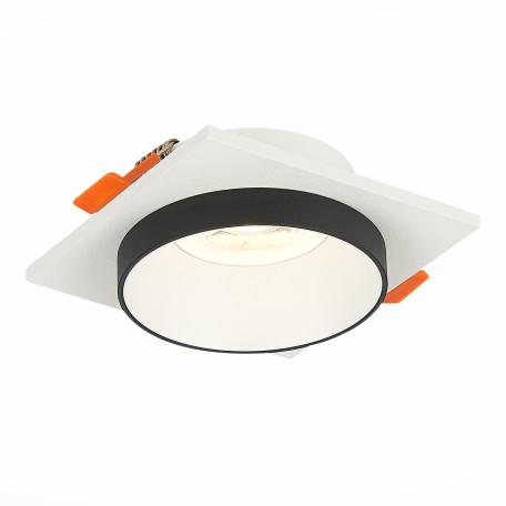 Встраиваемый светильник ST Luce Chomia ST206.518.01, 1xGU10x50W, белый, черно-белый, металл