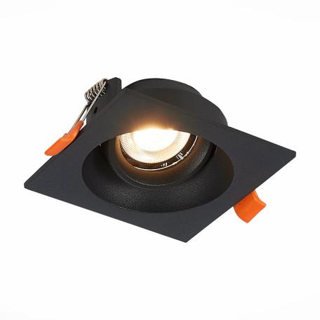 Встраиваемый светильник ST Luce Misura ST208.418.01, 1xGU10x50W, черный, металл