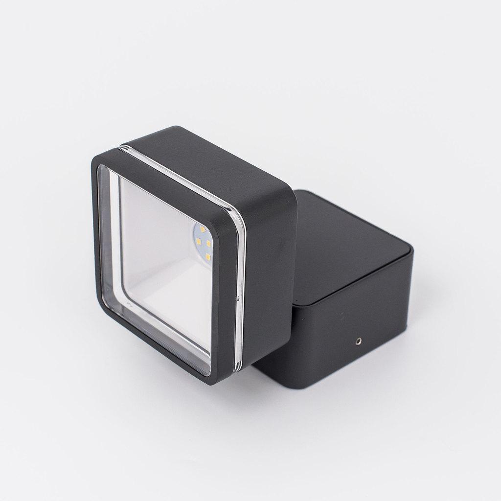 Настенный светодиодный светильник с регулировкой направления света Citilux CLU0008K, IP54, LED 6W 4000K 390lm, черный, металл, металл со стеклом - фото 1