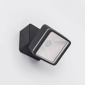Настенный светодиодный светильник с регулировкой направления света Citilux CLU0008K, IP54, LED 6W 4000K 390lm, черный, металл, металл со стеклом - миниатюра 2