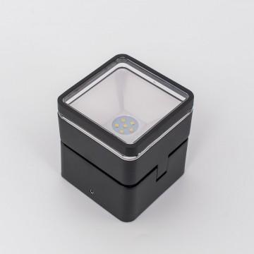 Настенный светодиодный светильник с регулировкой направления света Citilux CLU0008K, IP54, LED 6W 4000K 390lm, черный, металл, металл со стеклом - миниатюра 3