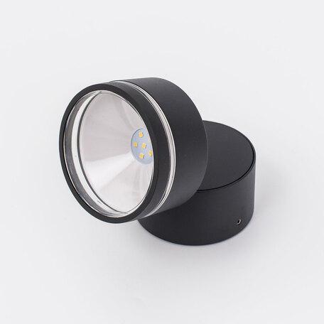 Настенный светодиодный светильник с регулировкой направления света Citilux CLU0008R, IP54, 4000K (дневной), черный, металл, стекло - миниатюра 1