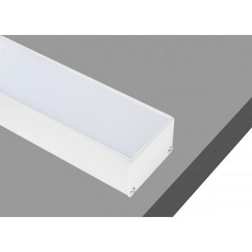 Накладной профиль для светодиодной ленты без рассеивателя Donolux DL18511RAL9003, белый