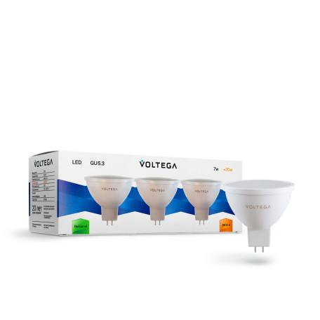 Светодиодная лампа Voltega Simple 7174 MR16 GU5.3 7W, 2800K (теплый) CRI80 170-265V, гарантия 2 года