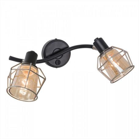 Потолочный светильник с регулировкой направления света Citilux Таверна CL542521, 2xE14x60W, черный, бежевый, металл, металл со стеклом